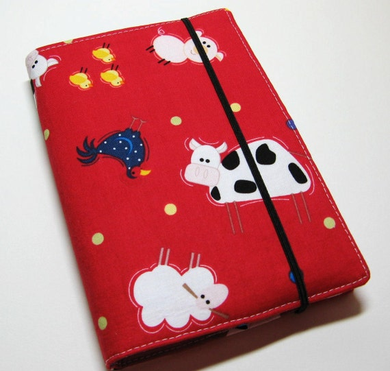 Children's Crayon Wallet Coloring Case - Red Farm Friends Toss - Includes Crayons and White Notepad - Ready to Ship