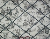 Black and White Toile French Memory Board