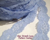 Lilac Stretch Lace 1 Inch Wide 12 Yards/36 Feet