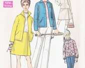 Simplicity 8754 Vintage Sewing Pattern 1970s Jacket, Pants, and Wrap Skirt Size 16 Bust 38 Inches
