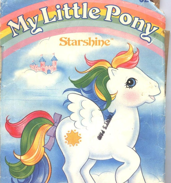 Butterick 3212 Vintage My Little Pony Starshine Sewing Pattern UNCUT from 1985