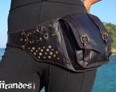 """Leather Utility Hip Belt _""""FaB""""_ High Quality Handmade Designer Pocket Belt Bag 4 Gypsy/Nomad/Urban Lifestyle [Festival.Travel.Concert]"""