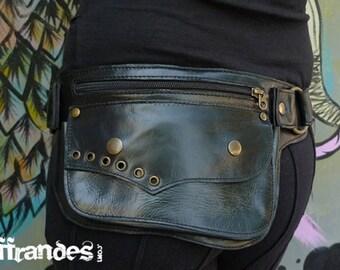 """Leather Utility Hip Belt """"L.ECLIPSE""""_High Quality Handmade Designer Pocket Belt Bag 4 Gypsy/Nomad/Urban Lifestyle [Festival.Travel.Concert]"""