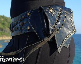 "Leather Utility Hip Belt _""CARIBE""_ High Quality Handmade Designer Pocket Belt 4 Gypsy/Nomad/Urban Lifestyle [Festival Bag.Travel.Hip Purse]"