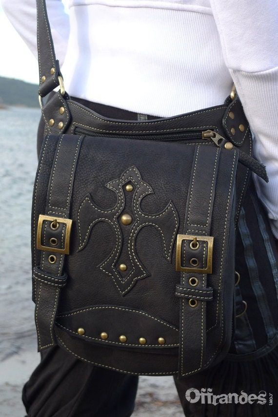 Leather Messenger Bag Shoulder Bag iPad leather Man