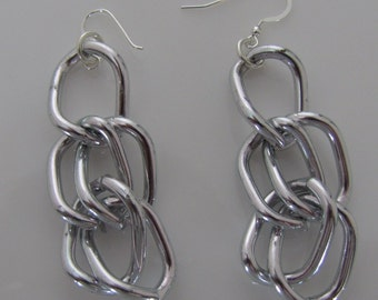 Aluminum Chain  Earrings