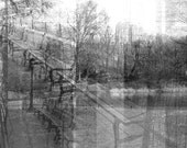 Central Park NYC Canvas Print Photo Collage Unmounted