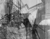 Brooklyn Bridge NYC Collage Canvas Print Unmounted