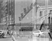 Andy Warhol Bridge, Pittsburgh Collage Gallery Wrap Canvas Print