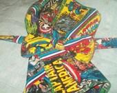 Captain America SuperHero Bow Tie and Pocket Square