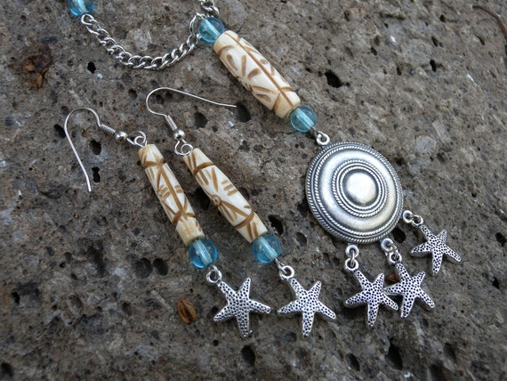 Reserved for Deborah - Seaside Necklace and Earring Set