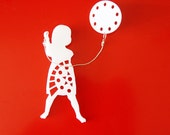 Girl with balloon Brooch