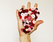 SALE - From The Button of My Heart    giant brooch