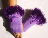 Hand Knit Gloves Mitten, Lavender Purple, Winter Accessories, Fall Fashion, Warm, Holiday Accessories