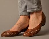 Vintage Red Leather Bandolinos 6.5 7N