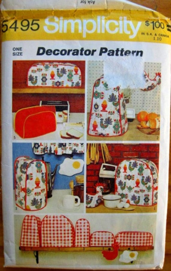 Vintage 70s Kitchen Decor Sewing Pattern by PatternPriority