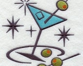 Embroidered Flour Sack Towel / Hand Towel / Quilt block -Retro Embroidery Design