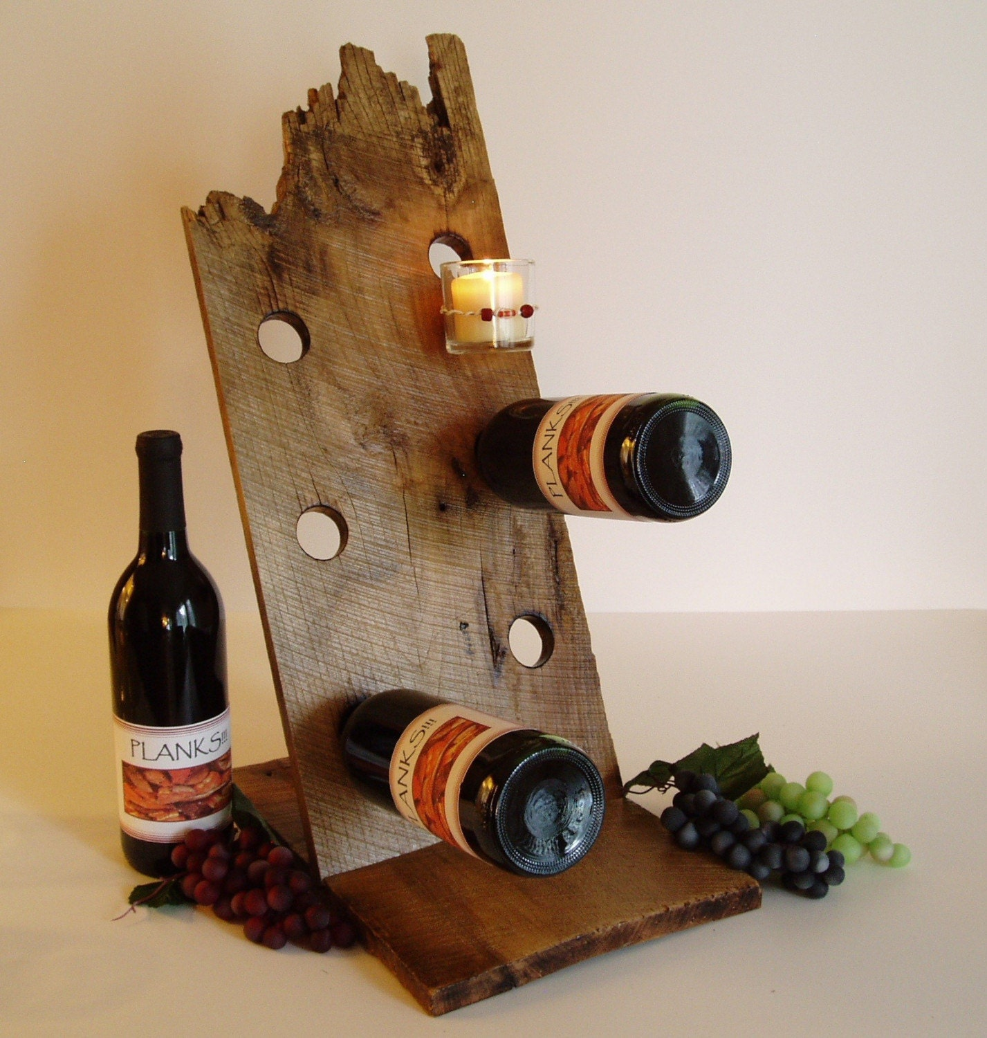 barnwood wine rack 6 bottle reclaimed barnwood wine rack 1489