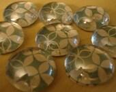 Blue Marbled Magnets (Set of 5)