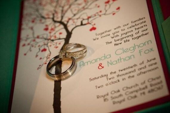 Heart Tree Printable Wedding Invitation Suite