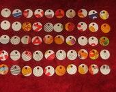 50 Mini Eco Friendly Circle Cardboard Price Tags Craft Tags Jewelry Tags
