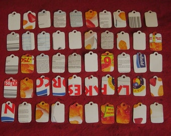 50 Eco Friendly Curved Cardboard Price Tags Craft Tags Jewelry Tags
