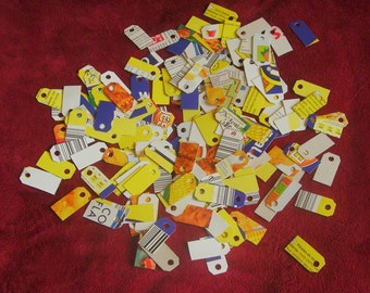 200 Mini Cardbaord Tags, Mini Tags, Eco Friendly Tags, Cardboard Tags, Price Tags, Craft Tags, Jewelry Tags, Tiny Grey Tags, Little Tags