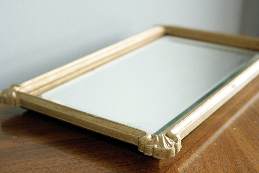 Small rectangle gold frame mirror for Small gold framed mirrors