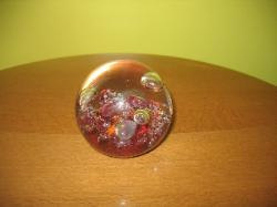 Collectible 1990's Selkirk Scottish Hand Blown Art Glass Paperweight
