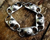 Forged Flat Washer and Ring Pull Recycled Bracelet
