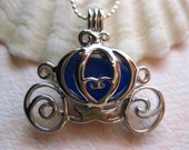 Cobalt Blue Royal  Carriage                Locket and SS Chain