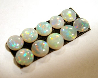 Boulder Opal 4.5mm round Cabochon Solid Australian Natural Confetti Pinfire ONE Stone Perfect Stacking Rings Designer Sparkle Coober Pedy