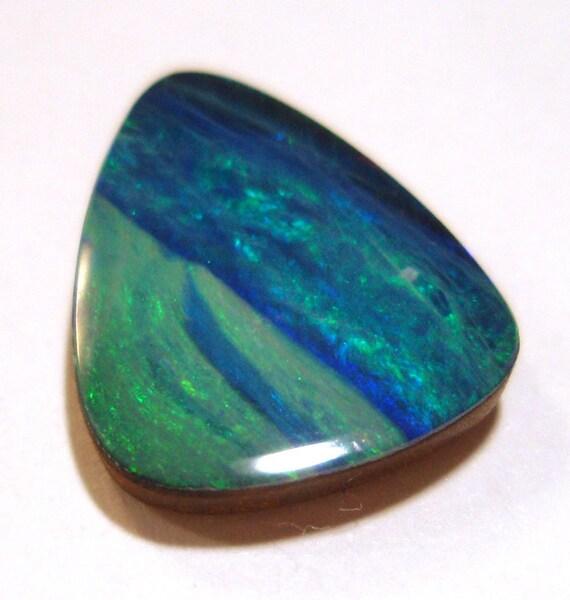 Coober Pedy Opal Cabochon  - AAA Quality Carribean Aqua Blues Trillion Shape