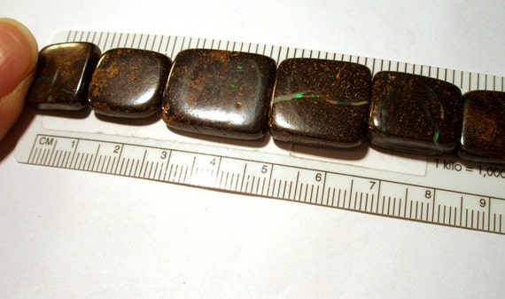 8 inch Starnd of Graduated Australian Boulder Opal Beads - Square Block
