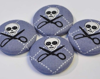 ON SALE - Skulls and scissorbones magnets (s1)