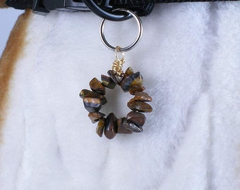 Babbling Riverbed - pet collar charm jewelry for dogs or people, circlet pendant, pet accessory or purse zipper charm