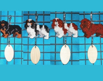 English Toy Spaniel dog crate tag or hang anywhere, home decor hanger art ornament, Choose your color, Magnet Option