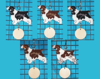 English Springer Spaniel crate tag hang anywhere decorative display Choose your color, Magnet option