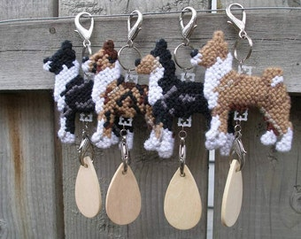 Basenji dog crate tag or hang anywhere, Magnet Option, kennel home art collectible decor, Choose your color
