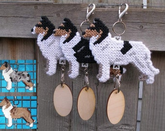Collie Smooth dog decorative display hang anywhere crate tag, Magnet Option, Choose your color