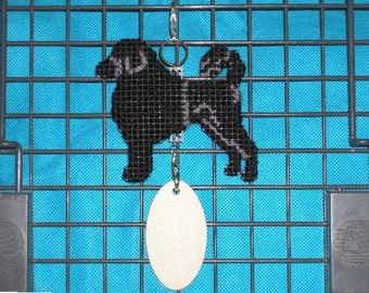 Portuguese Water Dog crate tag Lion Clip - hang dog anywhere, Magnet option, hand stitched original art
