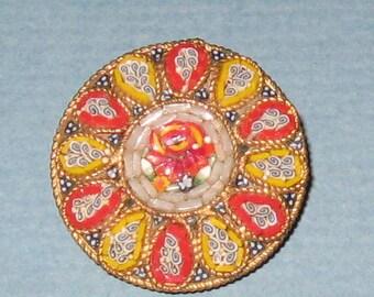 Vintage Mosaic Pin Brooch