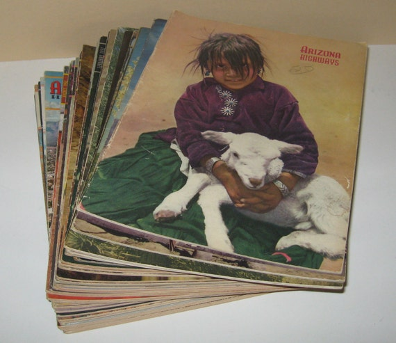 Large Lot of 1940s and 1950s Arizona Highways Magazines Over 30 in all