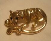 vintage panther brooch