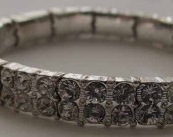 Designer Vintage Bright and Beautiful Rhinestone Bracelet