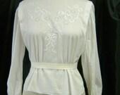 vintage button up the back blouse