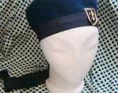 navy blue hat 60s