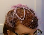 lavender net hat