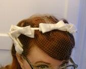 white bow halo hat