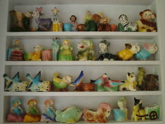 Collection of 30 Planter Figurines from 1940's - 50's